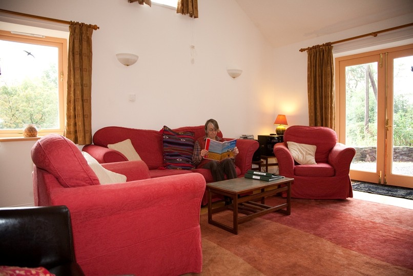 Sitting room of self catering, quiet cottage in mid-Wales